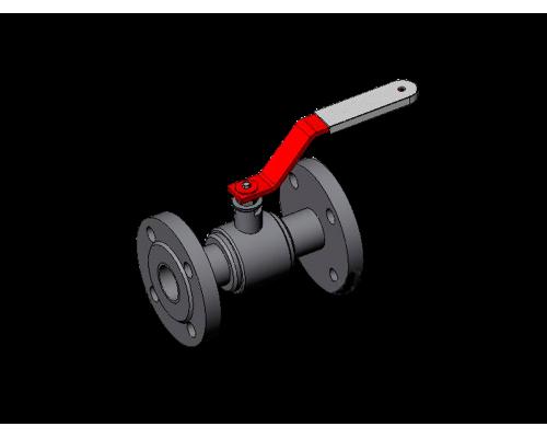 Кран шаровой неразборной КШЗ-16-80 Ду80 Ру16 сталь 12Х18Н10Т класс герметичности А